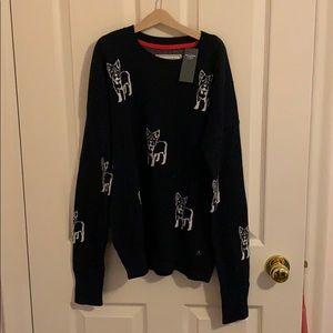 Abercrombie dog printed sweater